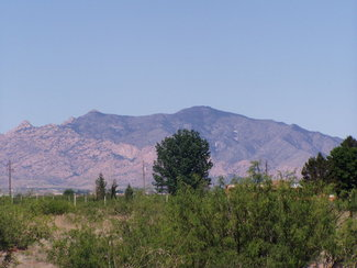 Looking west at the Dragoon Mountains
