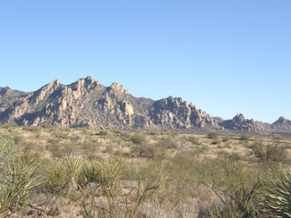 Looking southeast at the Dragoon Mountains.