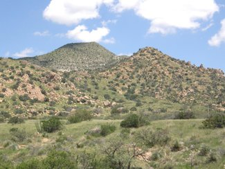 Another view of the Dragoon Mountains looking east.
