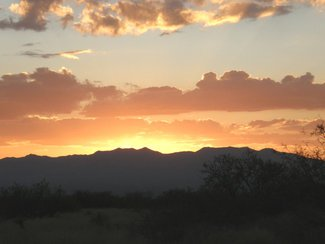 Another great Arizona sunset looking west.
