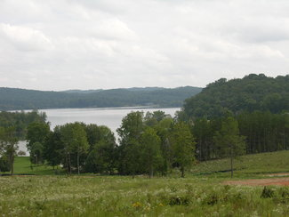 The view from the home site, which has convenient lake access.