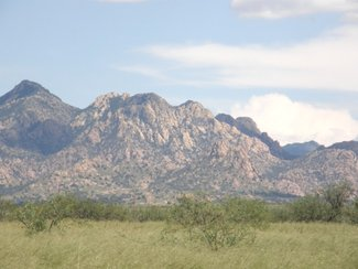 Another view of the Dragoon Mountains to the east.