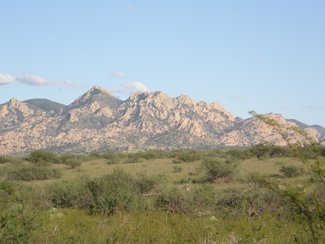 Another view of the Dragoon Mountains looking southeast.