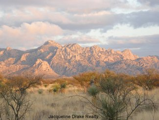 The Dragoon Mountains to the east near sunset.