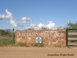 One of the entry markers going into Dragoon Mountain Ranch.