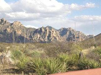 another view of the Dragoon Mountains located in the Coronado National Forest.