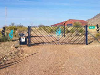 The 36+ acres is fenced with a solar entry gate.