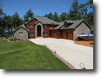 Wisconsin Waterfront 1 Acres Lakefront Log Home - Reduced over $600,000