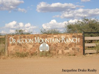 One of the entry markers at the gate off Sibyl Rd. Dragoon Mountain Ranch can be entered from SR-80 also.