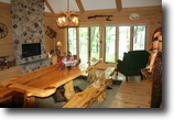 Wisconsin Waterfront 1 Acres Beautiful 3,000 sq ftLog Home on Petenwe