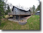 Wisconsin Waterfront 2 Acres Newer Home on Gilmore Lake