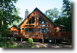 Wisconsin Waterfront 1 Acres Beautiful Log Home on Huge WI Lake