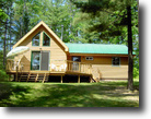 Lake cabin 10 acre 900 ft  Frontage Cty B