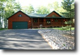 Wisconsin Land 1 Acres Beautiful Northwoods lakefront log home