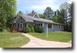 Wisconsin Waterfront 21 Acres Nostalgic Timepiece on Lower Eau Claire Lk
