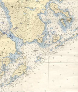 Nautical Map of Stowe Point