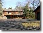 Wisconsin Waterfront 2 Acres Two Story Home on Gilmore Lake
