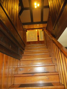 Stairwell to four bedrooms, each with its own 3 pc bath