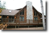 Wisconsin Land 2 Acres Cedar Log Home with Modern Conveniences!