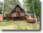 Wisconsin Land 10 Acres Cute and Cozy Modified A-Frame, Wascott