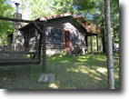 Wisconsin Waterfront 1 Acres Lake Gilmore - Log Home