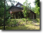 Wisconsin Waterfront 5 Acres Home - Lake Nancy