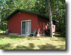 Wisconsin Waterfront 2 Acres Bunk Cabin on Upper Kimball Lake