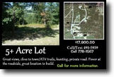 5.04 Acre Land Lot, located in Jay Maine