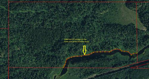 file acres of riverfront land property atikokan ontario