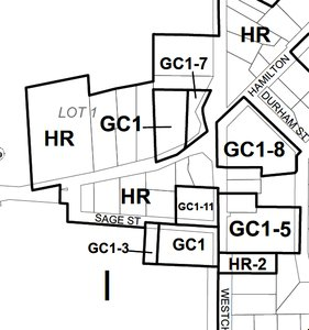 Thames Centre Nilestown Zoning Map