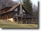 21 acres Log Home in Charleston NY
