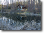 New York Hunting Land 3 Acres Log Cabin in Caneadea NY by Rushford Lake