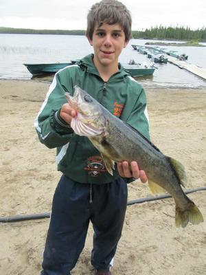 great sleepy lake fishing! quebec
