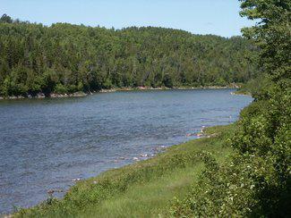 view down river quebec