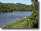 Quebec Waterfront 2 Acres Famous Salmon Fishing River Front 1.78 ac.