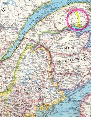 land location map quebec