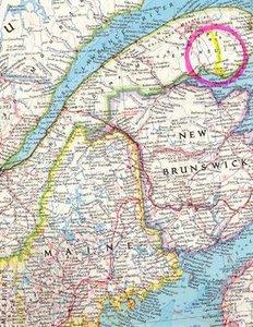 Land location map