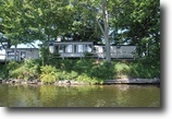 New York Waterfront 1 Acres Home on Peninsula on Salmon River in NY