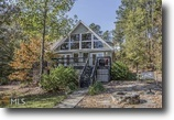 Lakefront Lake Sinclair Home on 1.96 Acres