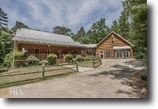 Log Cabin Home on over 8 Acres