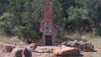 Old chimney fire pit