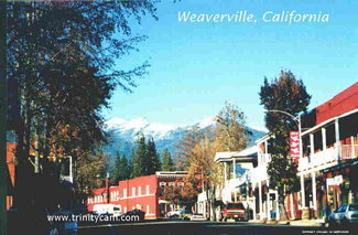Nearby town of Weaverville