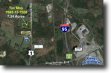 7.3+/- Acres w/500'+/- of Rt. 1 Frontage