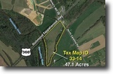 47 Acres w/Rt. 360 and River Frontage