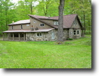 New York Hunting Land 5 Acres Fully Furnished Stone House in Smyrna NY