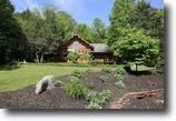 Indiana Land 5 Acres Beautiful Custom Round Log Home