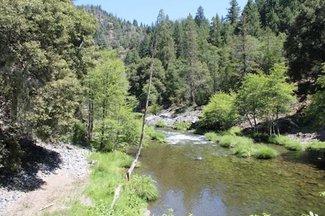 Claim creek and trail