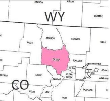 grand county location map colorado