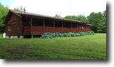 31 Acres Log Home Pole Barn Solon NY