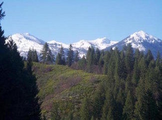 Trinity Alps mountains